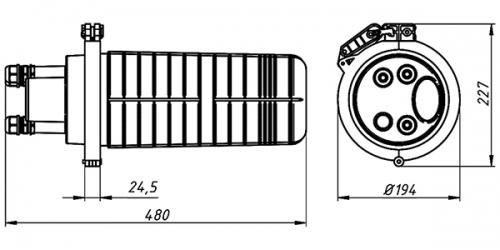 Кросс-муфта ОКМ-24-1-Т-1-24-SC-18 VolSip