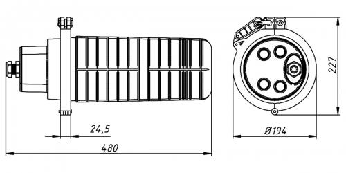 Муфта-кросс МВОТ-К-64-4-Т-1-32-SC-8 VolSip