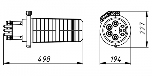 Кросс-муфта ОКМ-36-1/4-Т-1-36-SC-24