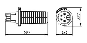 Кросс-муфта ОКМ-36-4/4-Т-1-36-SC-24