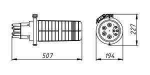 Кросс-муфта ОКМ-36-4/4-Т-1-36-SC-48